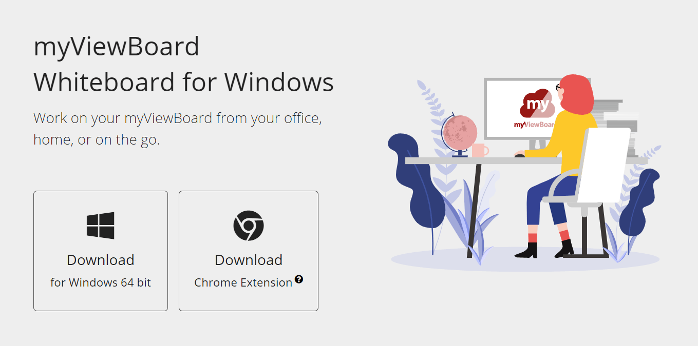 Downloading Whiteboard for Windows & myViewBoard Chrome Extension